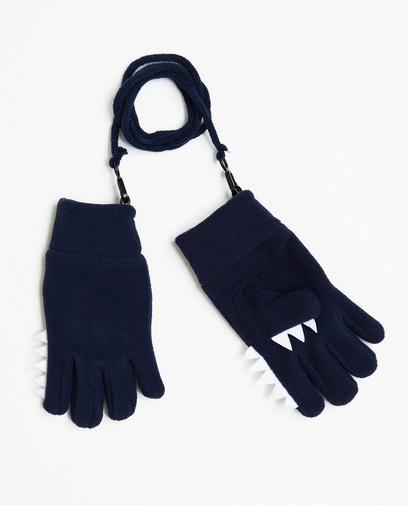 Nachtblaue Handschuhe